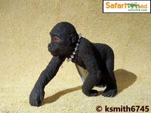 Safari Gorilla bébé solide Jouet en plastique Wild Zoo Animal JEUNE SINGE MONKEY NOUVEAU *