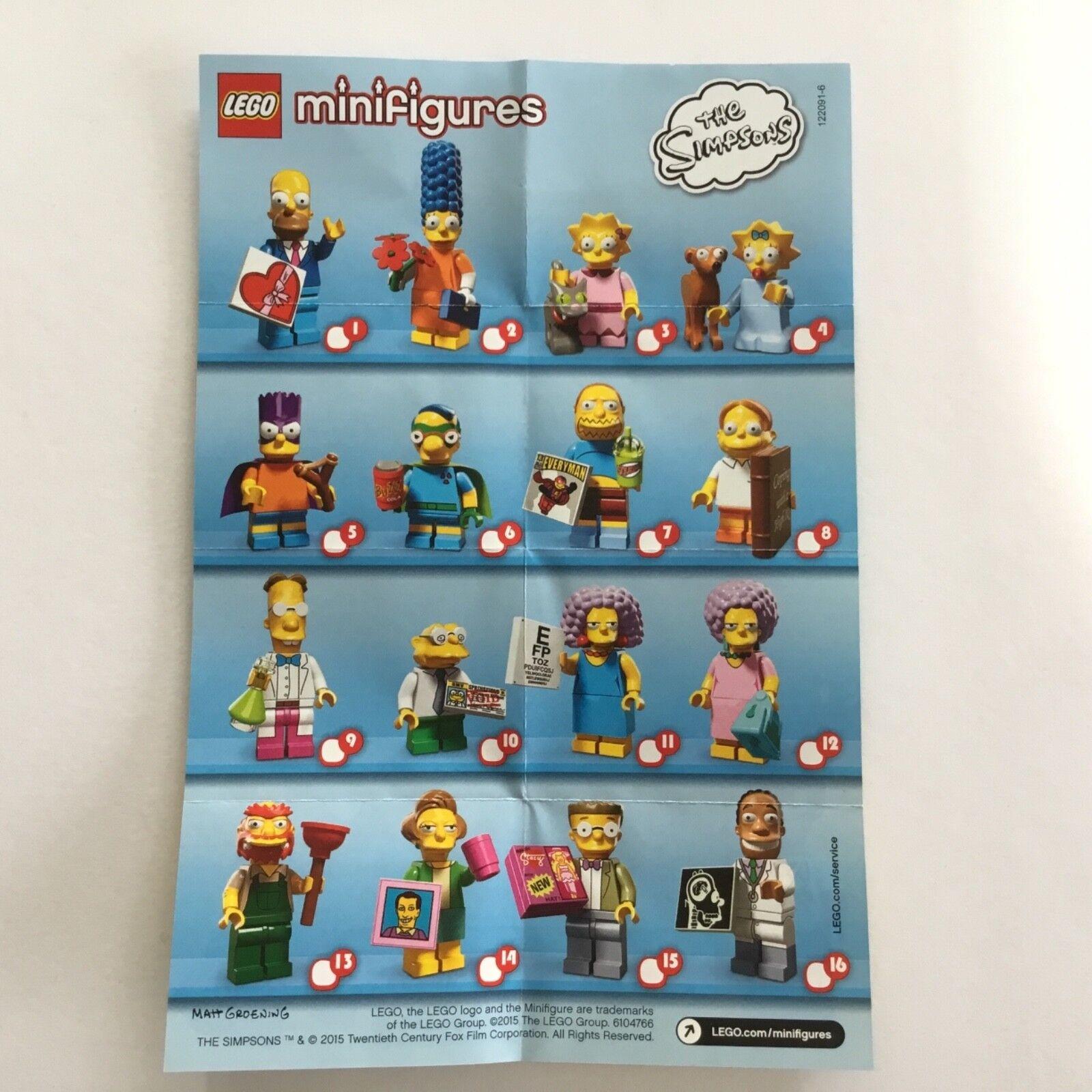 Lego Sammelfiguren 71009 Simpsons 2 - Komplett 16 Figuren NEU