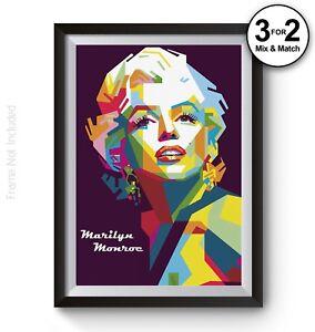 100/% Cotton Fashion Wall Art Print Marilyn Monroe Quote Celebrity Icon Pop Art