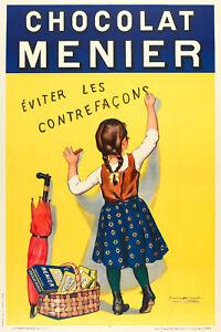 Original-Poster-F-BOUISSET-Chocolat-MENIER-Swing-les-contrefacons-1893