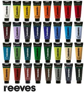 Reeves-Feine-Acrylfarben-200-ml-Tuben-Freie-Auswahl-aus-43-Farbtoenen