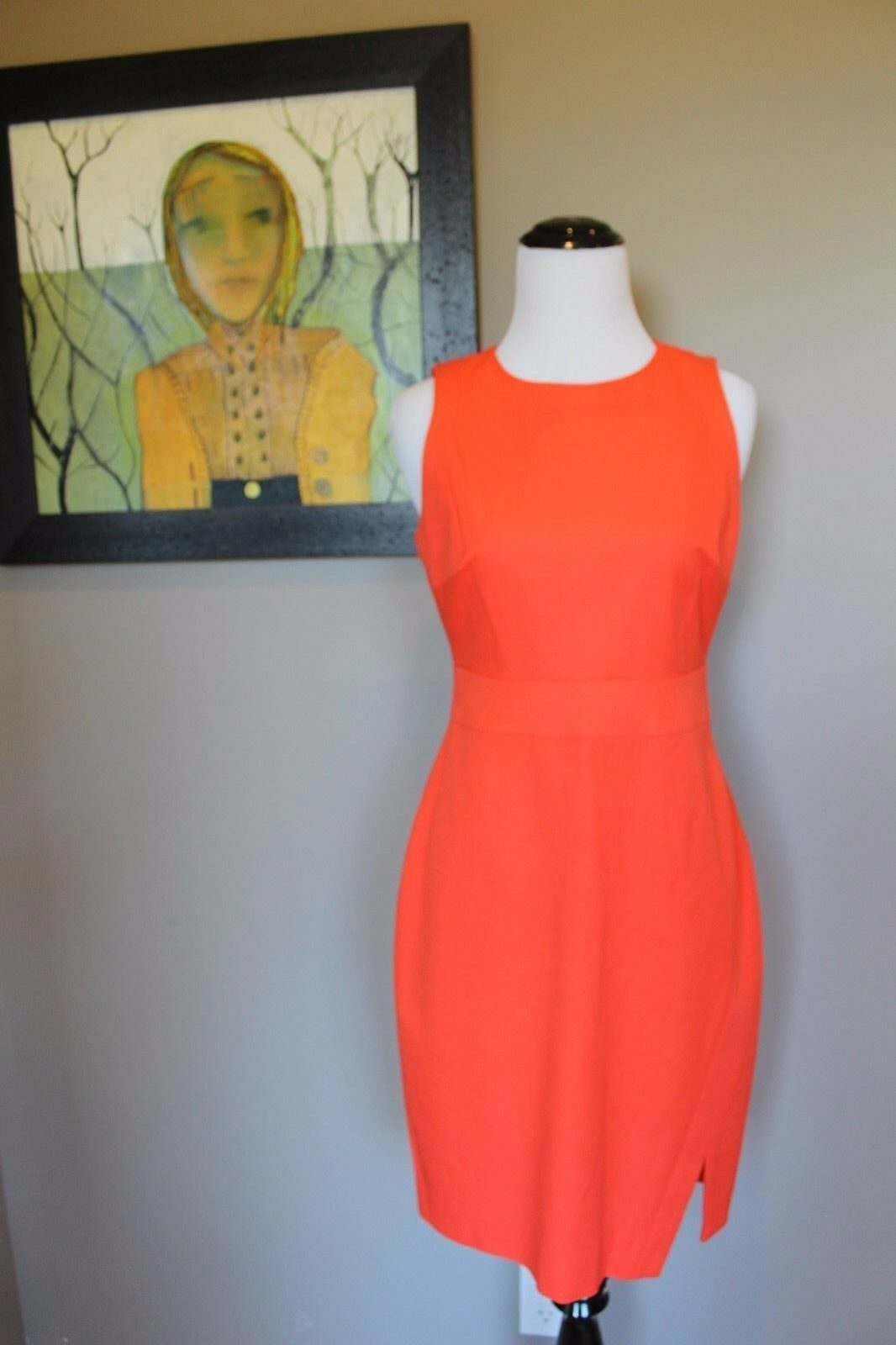 NWT J Crew Sleeveless Side Slit Sheath Dress Sweet Persimmon Sz 6 C4502