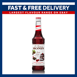 Details About Monin Coffee Syrups 70cl Glass Black Forest Syrup Used By Costa Coffee