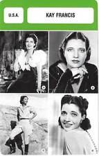 FICHE CINEMA :  KAY FRANCIS -  USA (Biographie/Filmographie)