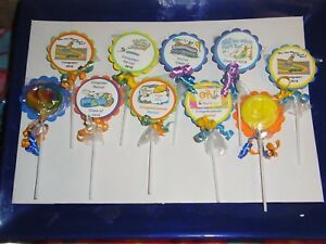 Details About 36 Graduation 2018 Personalized Party Favors Oh The Places You Go Swirl Lollipop