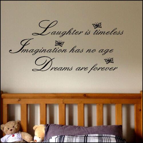 Disney citation rires imagination rêves wall sticker decal matt vinyl
