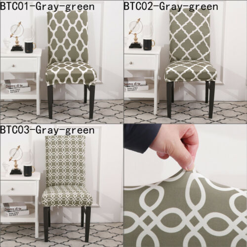 Printing Removable Chair Cover Big Elastic Slipcover Modern Kitchen Seat Case