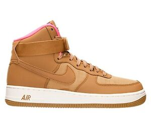 Nike Men Air Force High '07 315121 204 SIZE 10.5 Golden Tan Pink Pow