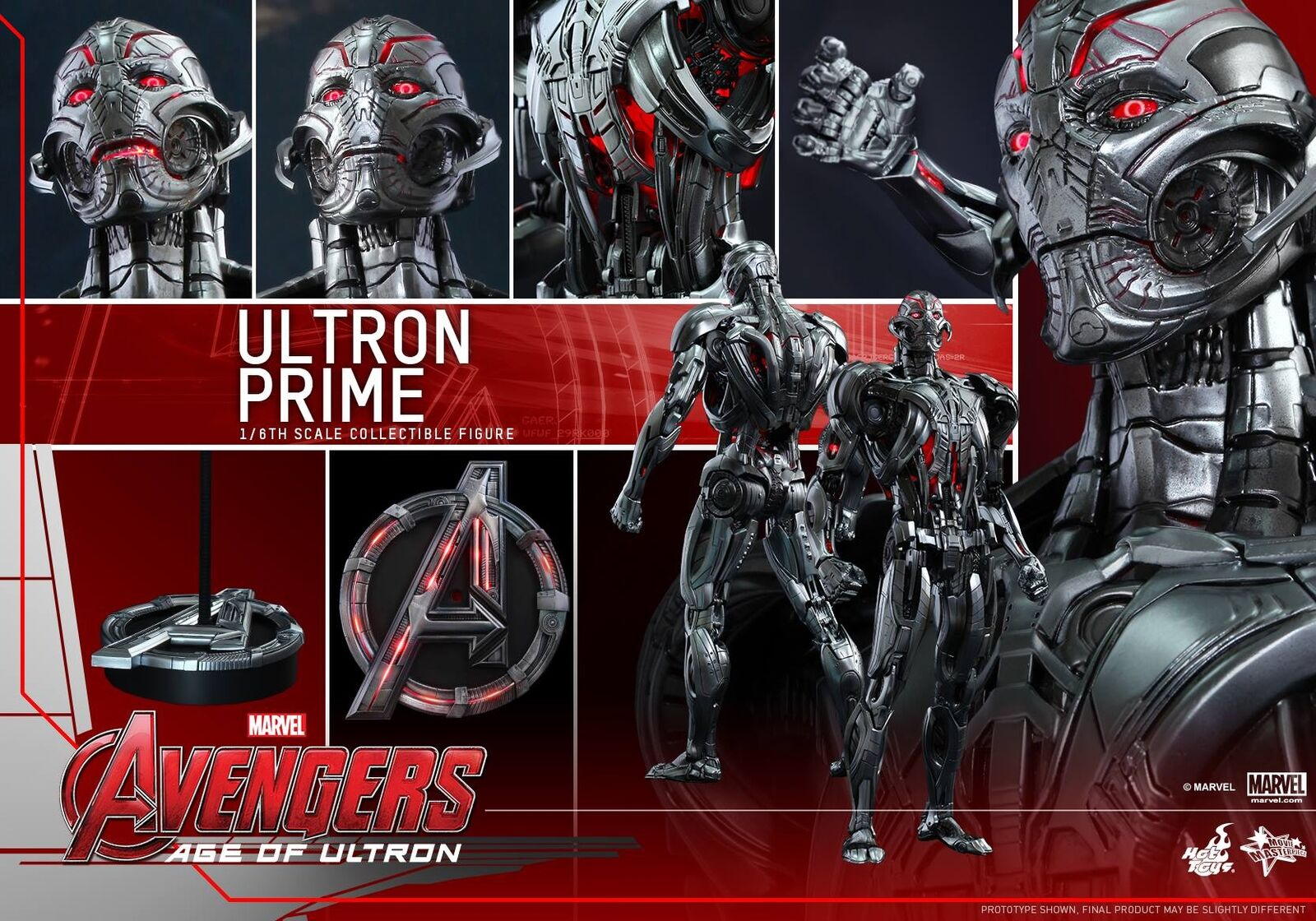 HOT TOYS 1 6 MARVEL AVENGERS MMS284 ULTRON PRIME MASTERPIECE ACTION FIGURE