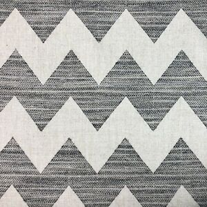 Clarence House Woven Chevron Upholstery Fabric Henderson In Charcoal