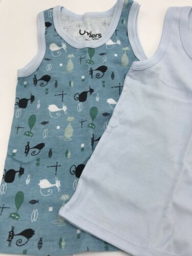 Unders by Grovia Pair 2 Tank Tops New Retro Cats Size 3T Children