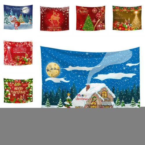 Christmas Tapestry Wall Hanging Santa Mat Bedspread Throw Cover Beach Towel Gift