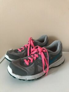 5ed69907 Details about Women's Size 7.5 NIKE REVOLUTION 2 Running Shoes Gray Pink  Blue #554900-006