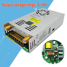 Current Limited Adjustable Power Supply Ac110v To Dc 0 48v Max 10a 480w Power