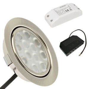 LED Trafo LED Möbeleinbaustrahler Luna 12V 3W Möbelspot Durchmesser 65mm inkl