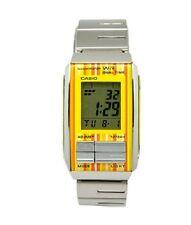 Casio LA201W-9C Ladies Futurist Metal Band Yellow Alarm Chronograph Watch NEW