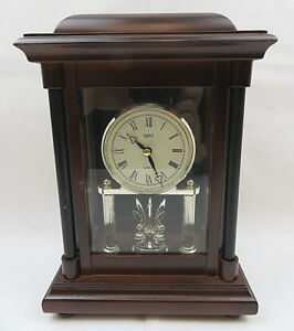 Vintage Quarz Stiffel Mantel Clock With Rotating Pendulum