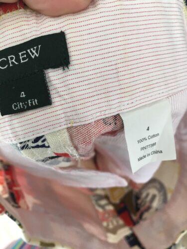 Nwot Crew camicie J Travel Stampa 4 Rare Labels Vintage rpEUHxnrqw