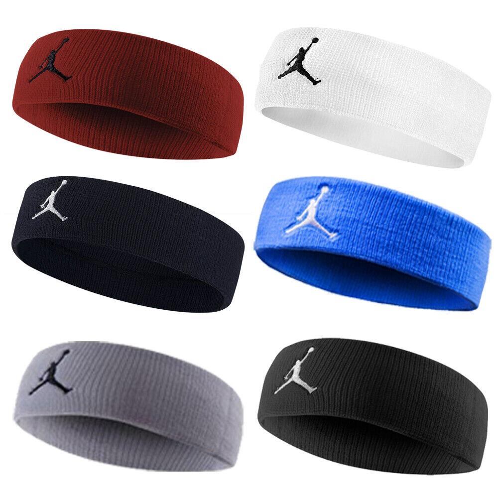 Fascia Headband Nike Jordan Jumpman Running Basket spugna Unisex Nera Nero   76200a1f4c3b