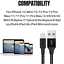 miniature 11 - 3Pack 10Ft Braided USB Fast Charger Cable For iPhone 12 11 8 6 XR Charging Cord
