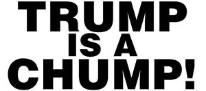 Trump Re-Election Bumper Sticker Lying Chump