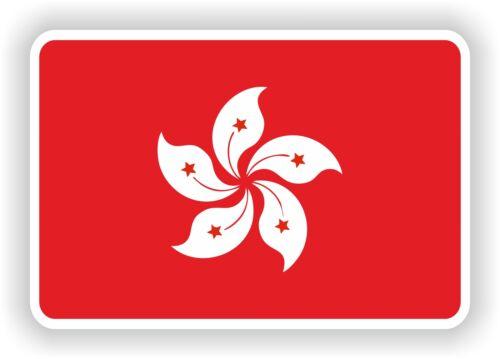 """Hong Kong flag sticker 2.8x4/""""Bumper Decal Car Fridge Tablet Door Bike Book Truck"""
