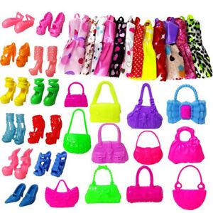 GX-30Pcs-Fashion-Dresses-Clothes-Handbag-High-Heel-Shoes-For-Doll-Toy-Fa
