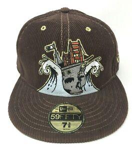 87b8c484385b62 Jeremy Fish Barbary Coast New Era 59FIFTY Brown Corduroy Fitted Hat ...