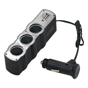 AL-Car-Cigarette-Lighter-Socket-Splitter-3-Way-USB-Charger-Adapter-DC-12V-Uniqu