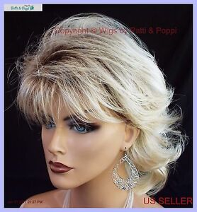 angela mid length layered shag wig rh26 613rt8 rooted