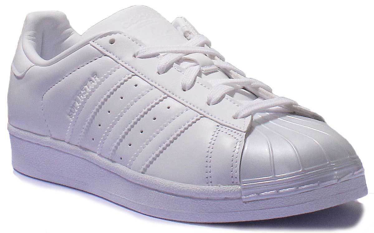 Adidas Superstar Gloss Toe Femme Blanc B Grade Blanc Trainer
