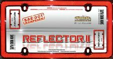 Reflector II License Plate Frame - Cruiser Accessories - Reflective Plastic