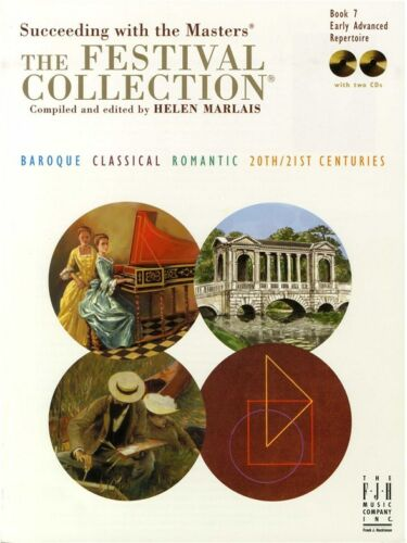 7 PIANO MUSIC BOOK /& CD Succeeding With The Masters The Festival Collection