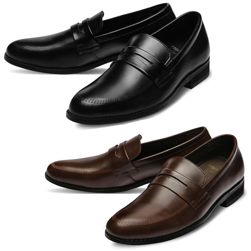 Mooda Mens Leather Loafer shoes Casual Formal Lace up Dress shoes InaS