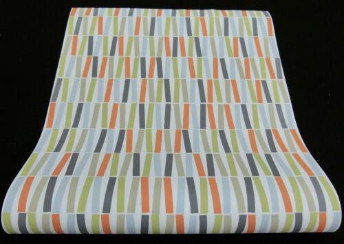 13627-20-519 6 Rollen Vliestapeten Scandinavian-Design weiss oliv orange blau