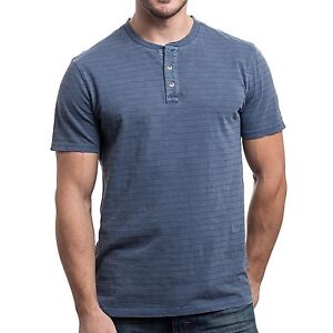Lee Men/'s Short Sleeve Henley Black Grey Top Premium Comfort Shirt $42 NEW