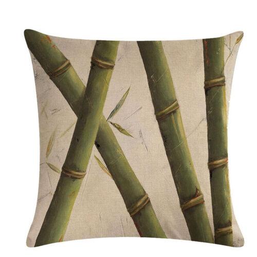 Outdoor Indoor Tropical Banana Palm Leaf Lumbar Retro Cushion Cover Y2