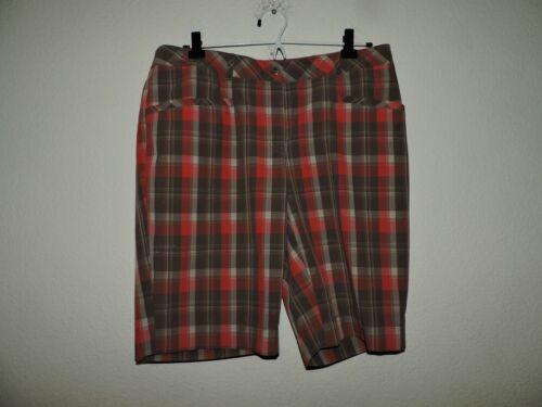 Annika Cutter & Buck  Shorts Golf  Plaid  Size 8