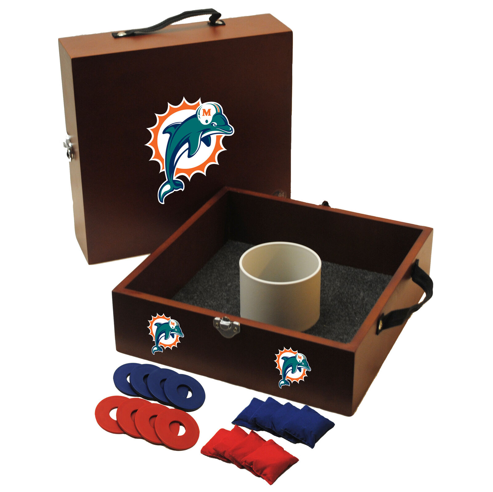 Tailgate Toss NFL Washer and Ring Toss Miami Dolphins