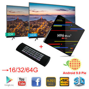 2019 Android 9.0 H96 Max 16//32//64G Smart TV Box Quad Core WIFI 4K With Keyboard