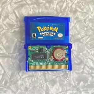 Pokemon Sapphire Nintendo Gameboy Advance TESTED Authentic GBA Needs BATTERY Dry