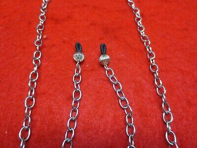 76.2cm Edelstahl Silber 5mm Glieder Schnur Brillenlupe Halter