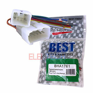 best kits bha1761 aftermarket radio replacement wire harness for image is loading best kits bha1761 aftermarket radio replacement wire harness