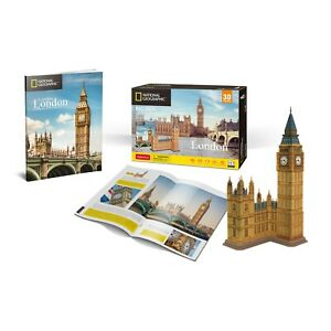 National-Geographic-Big-Ben-Rompecabezas-3D-Modelo-folleto-PL