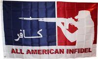 All American Infidel Flag 3x5 Ft Arabic & English Veteran Vet Iraq Afghanistan