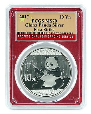 Panda Frame 2020 China 10 Yuan Silver Panda PCGS MS70 First Strike