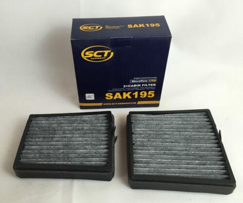 Filtro de carbón activado set 2 x filtro de carbón activado sct Germany C-Klasse w203 s203 cl203