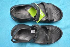 261d46dcb3e1 Black Crocs Comfort Design Men s Swiftwater River Sandal. Size M12 ...