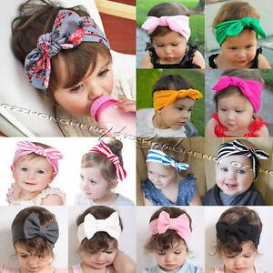 Baby Toddler Girls Kids Bunny Rabbit Bow Knot Turban Headband Hair ... 903fd1ba00e