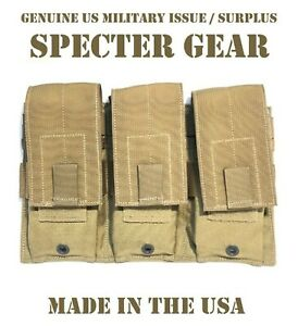 SPECTER-GEAR-273-COYOTE-USMC-US-MILITARY-MOLLE-TRIPLE-RIFLE-MAG-POUCH-SHINGLE